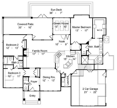 popular house floor plans country one house plan