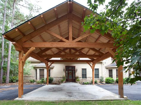 Timber Car Ports by Houston Timber Frame Traditional Garage Houston By