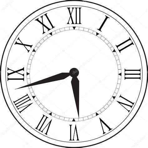 retro clock  roman dial stock vector  ovi