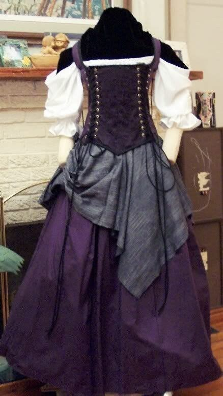 purple renaissance witch dress     dressed