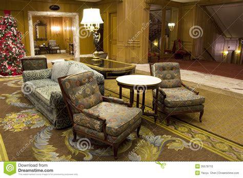 luxury hotel lobby furniture stock photo image