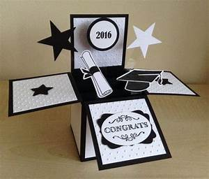 handmade graduation card in a box popup by With graduation pop up card template