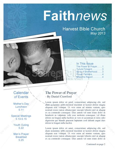 Free Christian Newsletter Templates by 15 Free Church Newsletter Templates Ms Word Publisher