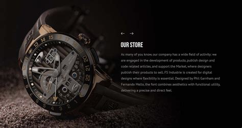 watches website template psd