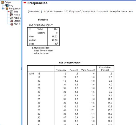 what does open table mean descriptives analysis central tendency erc