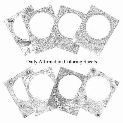 Coloring Affirmation Pages Daily Printable P957 Mandalajourney