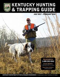 Kentucky Afield Outdoors  Arrival Of Ky  Hunting Guide An