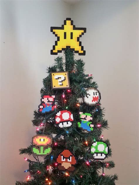 Super Mario Bros Christmas Ornament Set Have A Merry