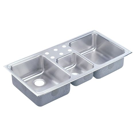 three basin kitchen sink elkay lcr lustertone bowl basin kitchen sink atg 6104
