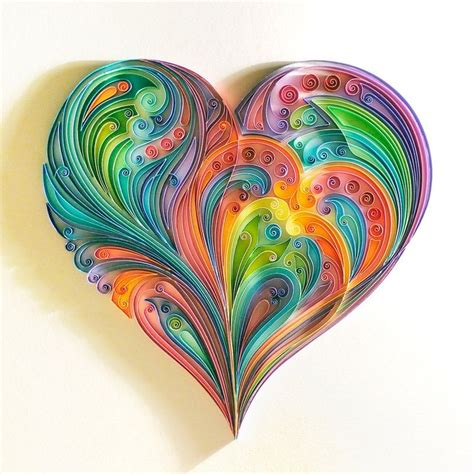 quilled heart quilling paper craft quilling quilling
