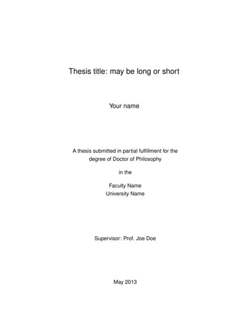 Thesis Template Thesis Template With Memoir Template Sharelatex
