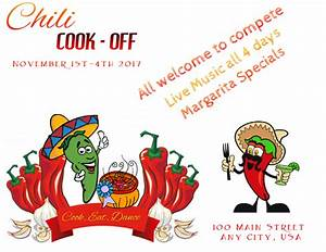 Chili Cook Off Certificate Template Chili Cook Off Flyer Template Postermywall