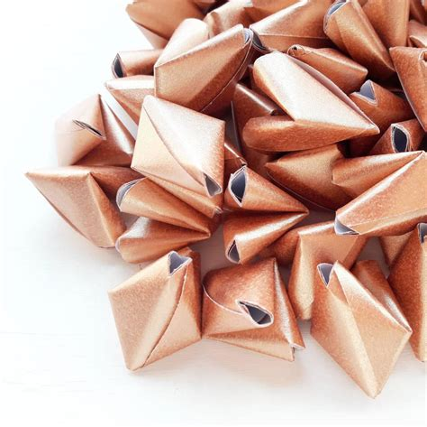 Bespoke Origami Hearts With Messages By Bubble And Mimi