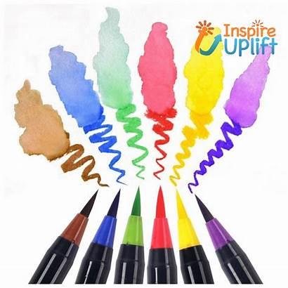 Pen Brush Markers Watercolor Coloring Effect Inspireuplift