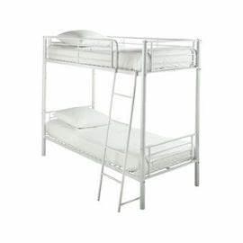 Lit Metal Blanc : lit superpos metal blanc table de lit ~ Teatrodelosmanantiales.com Idées de Décoration