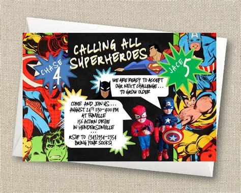 superhero birthday invitations psd vector eps ai