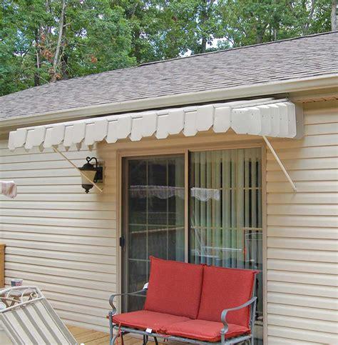 brookside door awning  angled side panels