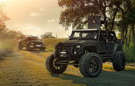 Wallpaper Ford, Nature, Cars, Front, Wrangler, Jeep, Off
