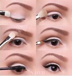 Maquillage Yeux Tuto : 50 tutos maquillage naturels pour les press es du matin astuces de filles ~ Nature-et-papiers.com Idées de Décoration