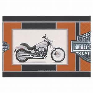 harley davidson motorcycles wallpaper border wwwimgkid With kitchen cabinets lowes with harley davidson wall art