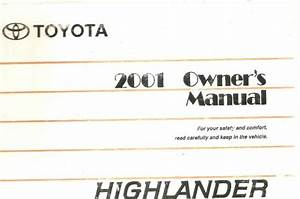 2001 Toyota Highlander Owner Manual