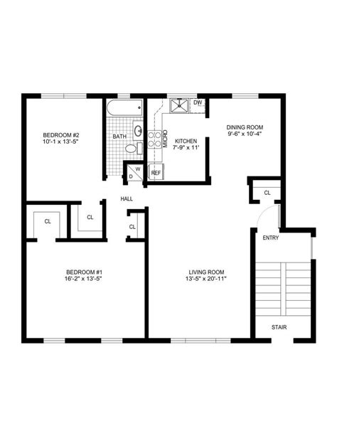 Simple House Blueprints With Measurements Datenlaborinfo