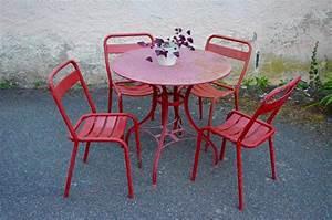 Salon De Jardin Metal : beautiful salon de jardin metal rouge ideas awesome ~ Dailycaller-alerts.com Idées de Décoration