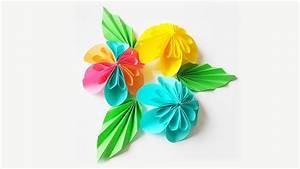 Origami Blumen Falten : blumen falten origami blume youtube ~ Watch28wear.com Haus und Dekorationen