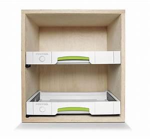 Tiroir Festool pour fabrication de meubles à systainers
