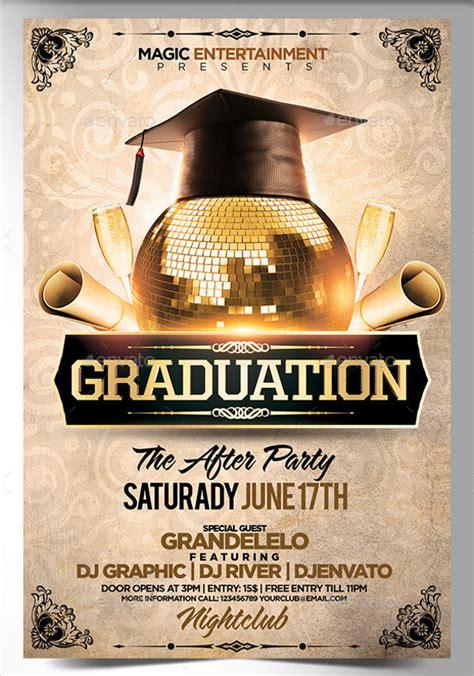 graduation party flyer templates  premium