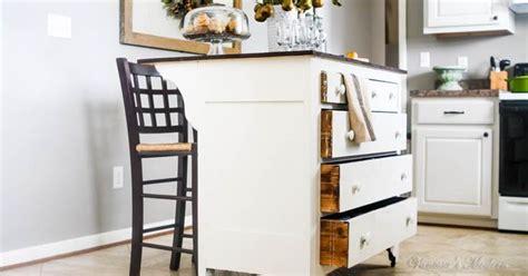 dresser for kitchen storage need more kitchen storage turn a dresser into an island 6964