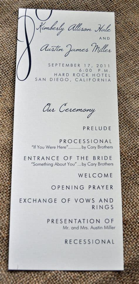 one page wedding program 200 vintage tea length wedding programs