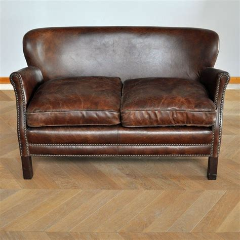canape 2 places cuir quot turner quot chehoma