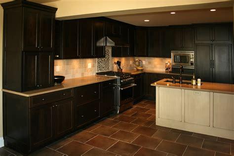 Kitchens With Dark Brown Tile Floors