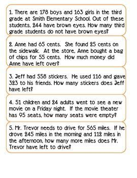word problems solving   unknown
