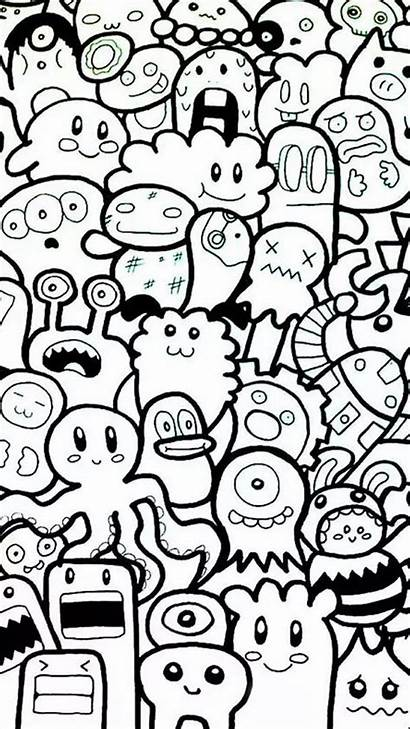 Coloring Pages Simple Doodles Cool Adults Doodle
