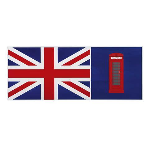 plateau de bureau réversible en bois bleu drapeau anglais