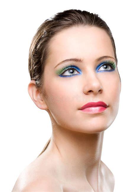 Feminine Beauty Colorful Makeup Stock Photo  Image Of