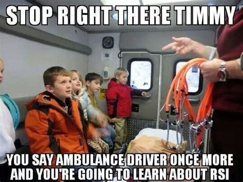 Ambulance Driver Meme - giving credit for inspiration james windale