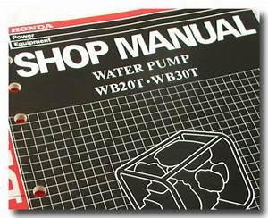 Honda Parts Wb20t Wb30t Water Pump Shop Service Repair