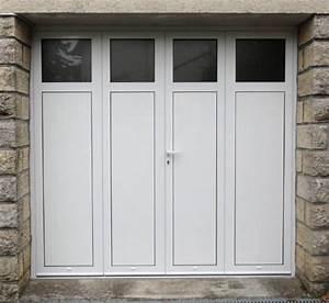 Porte De Garage 4 Vantaux : porte de garage battante en aluminium 2 3 ou 4 vantaux ~ Dallasstarsshop.com Idées de Décoration