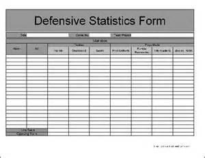 Defensive Football Stat Sheets Printable