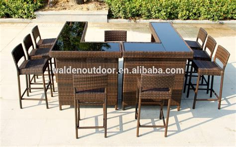 Outdoor Bar Furniture by Home Bar Furniture Outdoor Bar Table Seaside Wicker