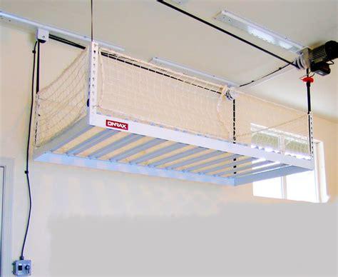 overhead garage storage systems garage overhead storage racks of michigan vanguard space