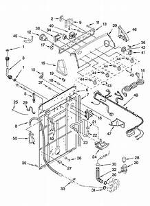 Controls And Rear Panel Parts Diagram  U0026 Parts List For Model Wtw5800sg0 Whirlpool