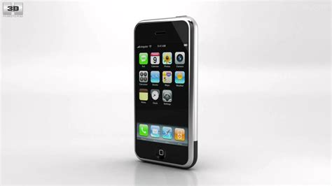 1st gen iphone apple iphone 1st gen black by 3d model store humster3d 1st g