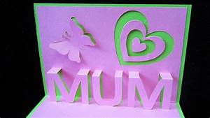 Mother's day pop up card - learn how to make a popup card ...
