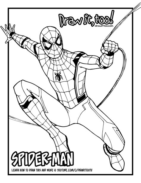 Kleurplaat Homecoming by Spider Homecoming Coloring Pages Coloring Pages For