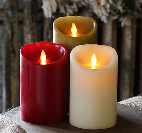 burgundy luminara flameless candle  timer