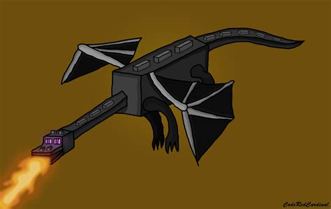 Minecraft Ender Dragon Painting By Coderedcardinal On